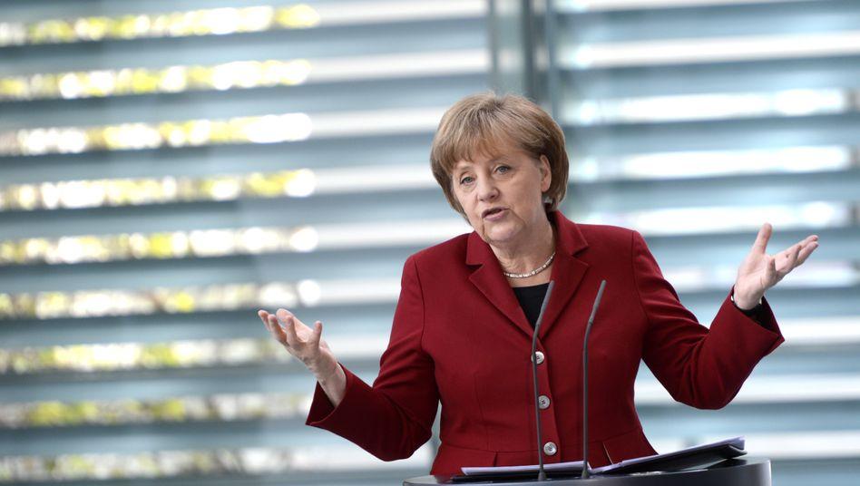 Angela Merkel bei einem Treffen in Berlin: Uno-Umweltkonferenz ohne die Kanzlerin