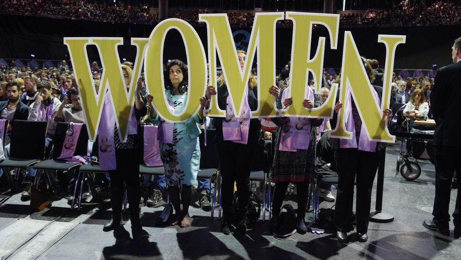 Veranstaltung in Berlin zum Weltfrauentag (Archivbild)