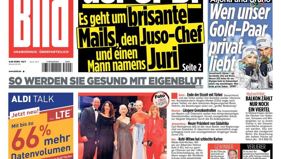 """""""Bild""""-Zeitungsausgabe vom 16. Februar 2018"""