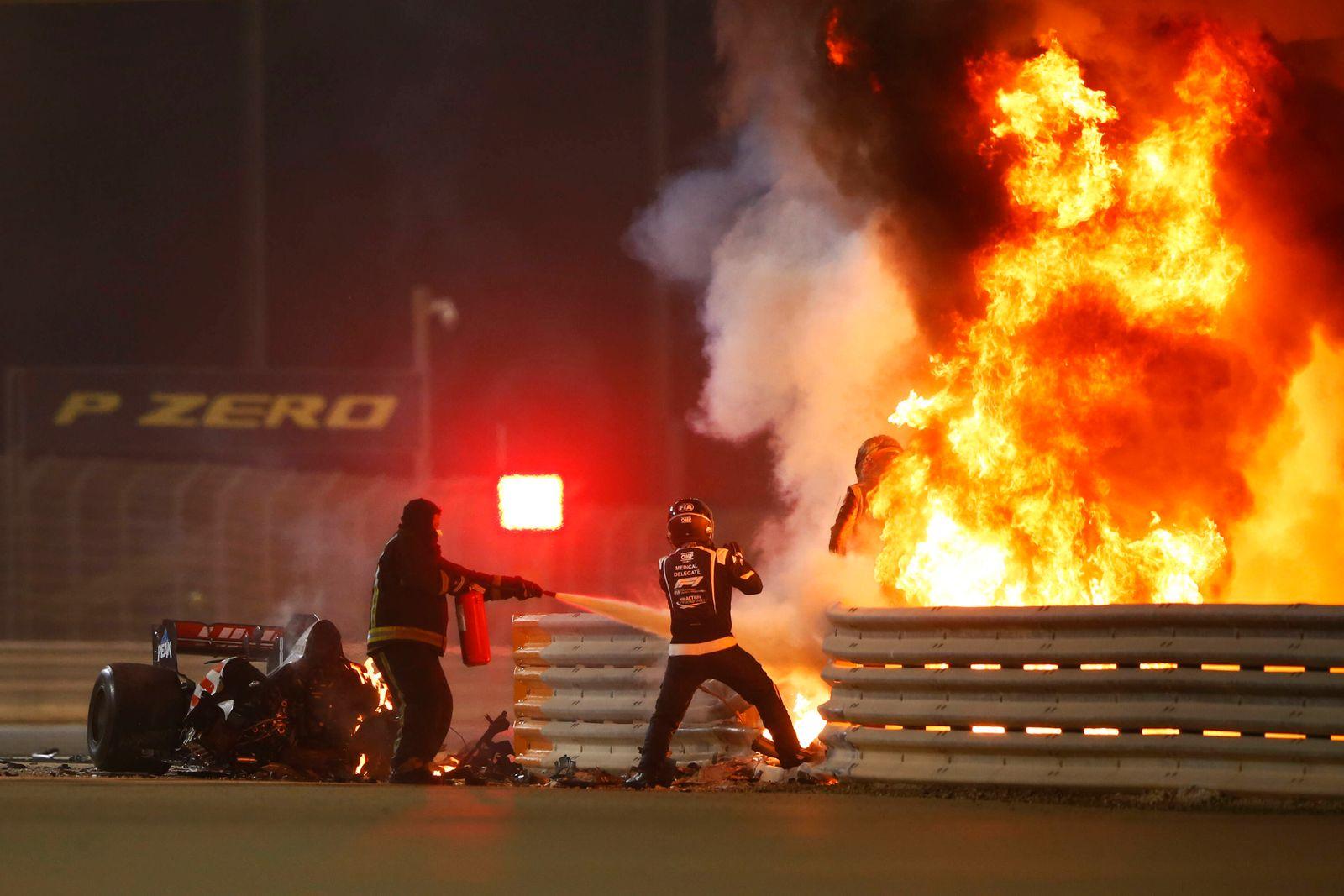 Sport Themen der Woche KW48 2020 Bahrain GP BAHRAIN INTERNATIONAL CIRCUIT, BAHRAIN - NOVEMBER 29: Romain Grosjean, Haas
