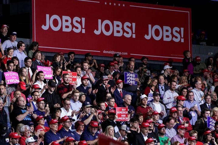 Trump-Unterstützer in Grand Rapids, Michigan
