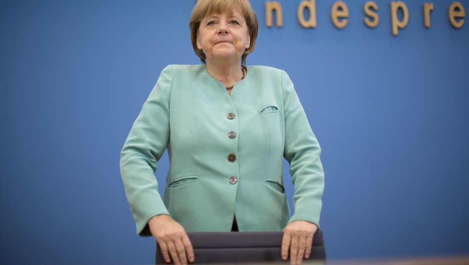 """German Chancellor Angela Merkel during her press conference on Friday: """"We are applying the appropriate pressure."""""""