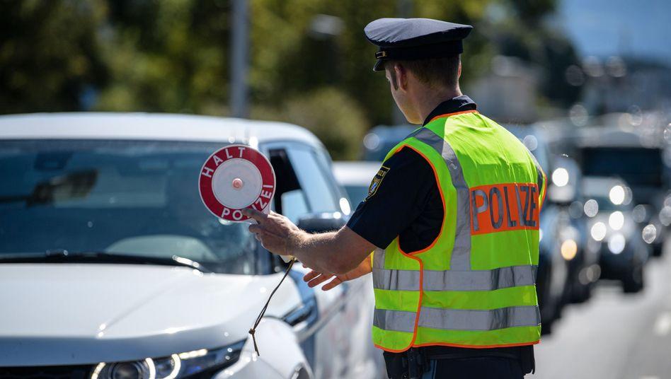 Grenzkontrolle in Bayern (Symbolfoto)