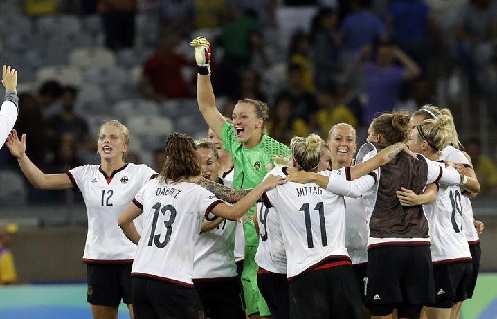 Jubelndes DFB-Team