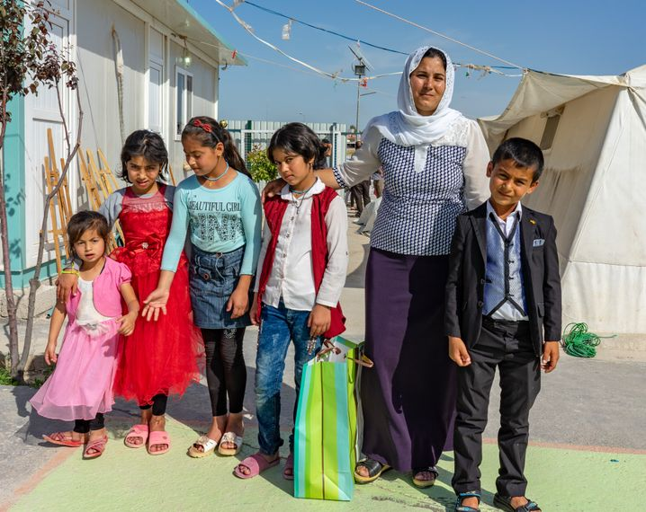 Suad and her five children. Nothing is like it once was, she says.
