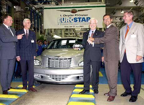 Feierliche Eröffnung der Cruiser-Produktion in Graz: Der Chef kam aus Amerika