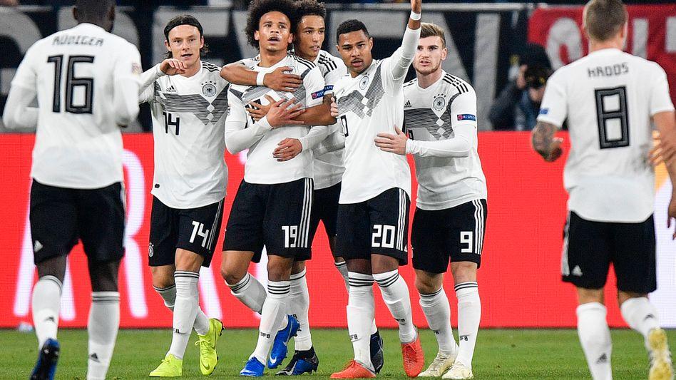 Jubelnde DFB-Spieler