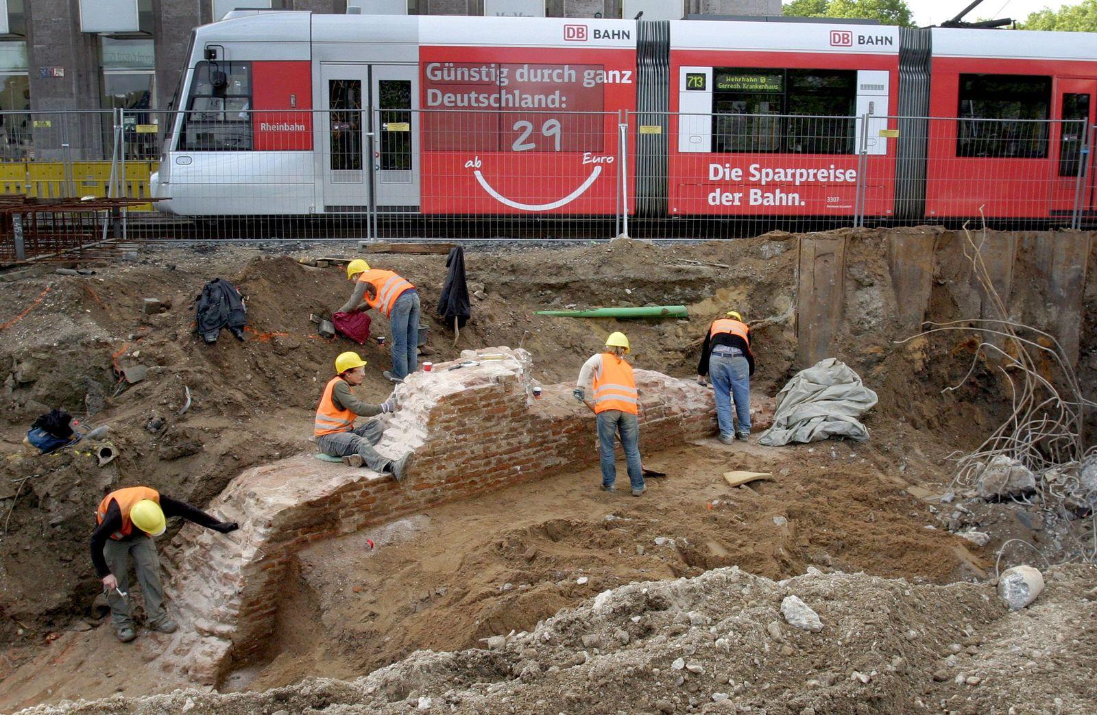Ausgrabung in Düsseldorf