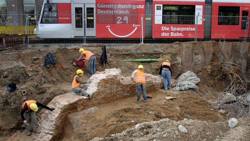 Reiche Fundstätten: Ausgrabungen beim Bau einer neuen U-Bahnlinie in Düsseldorf (2010)
