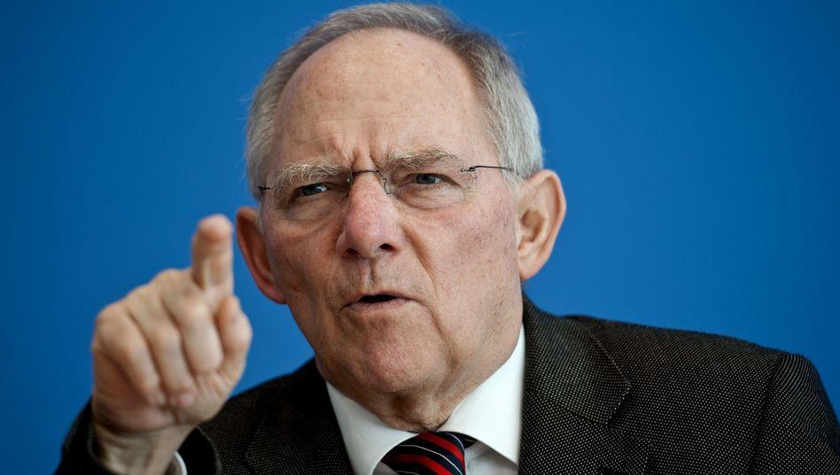 Bundesfinanzminister Schäuble: Ärger über Ankauf von Steuer-CDs