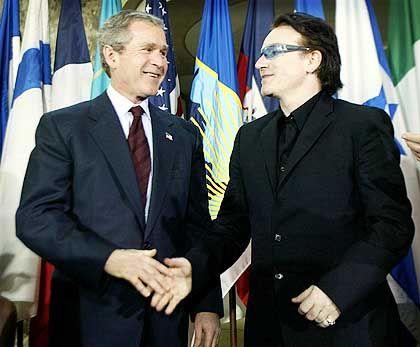 """Popstar Bono, Präsident Bush: """"Schlüpfrige Sendungen"""""""