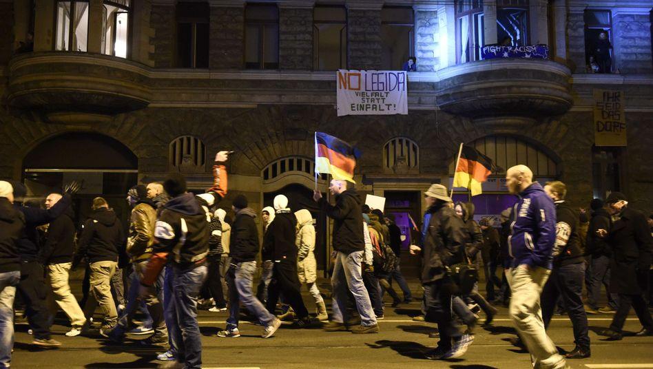 Legida-Demonstranten in Leipzig: Freiheit auch für schäbige Meinungen
