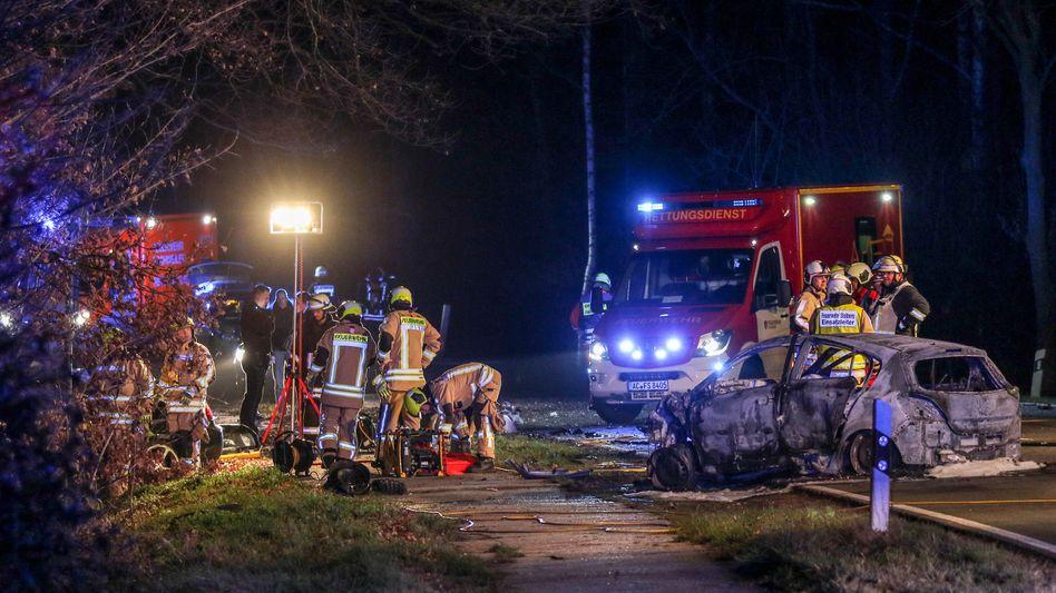 Unfallstelle in Stolberg