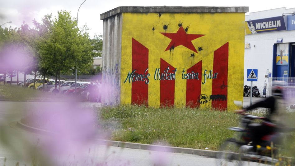 The Catalonian flag and a call for independence