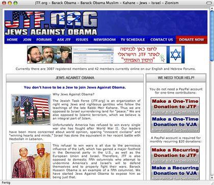 Wer auf das Banner bei PI klickt, landet auf der Homepage der JTF