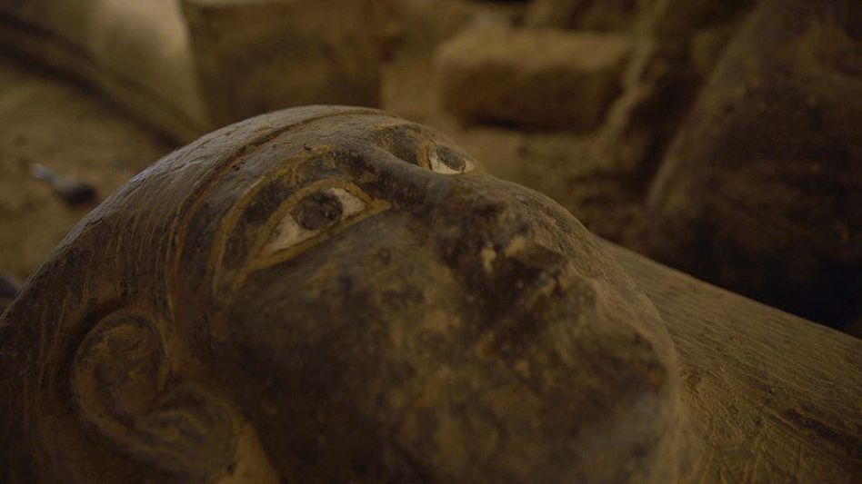 In der Totenstadt von Sakkara sind in einem Schacht mehrere versiegelte Särge gefunden worden