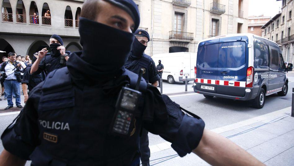 Polizisten in Barcelona