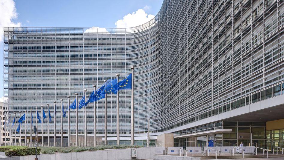 Berlaymont-Gebäude in Brüssel, Sitz der Europäischen Kommission: US-Techunternehmen lassen sich Lobbyarbeit in der EU viel Geld kosten