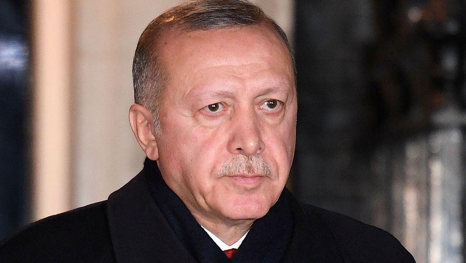 Türkischer Präsident Recep Tayyip Erdogan: Treffen am 19. Januar