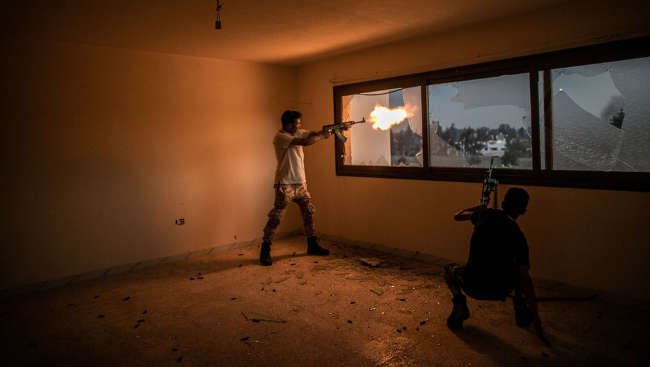 Kämpfer der Sarraj-Regierung in Tripolis: Es geht nur um den Sieg