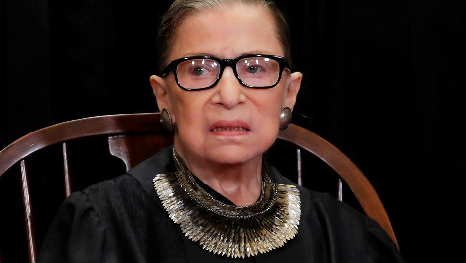 Ruth Bader Ginsburg, 87, wird von liberalen Anhängern als Ikone des Supreme Court gefeiert