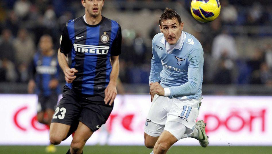 Lazio-Stürmer Klose (r.): Siegtreffer gegen Inter Mailand
