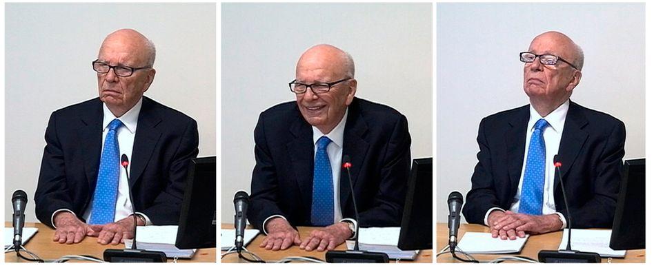 """Rupert Murdoch vor der Leveson-Kommission in London: """"Das tut mir leid"""""""