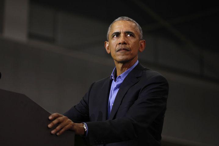 Barack Obama bei Wahlkampfauftritt