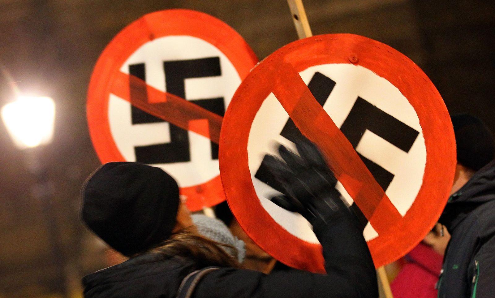Demo gegen Nazis in Dresden