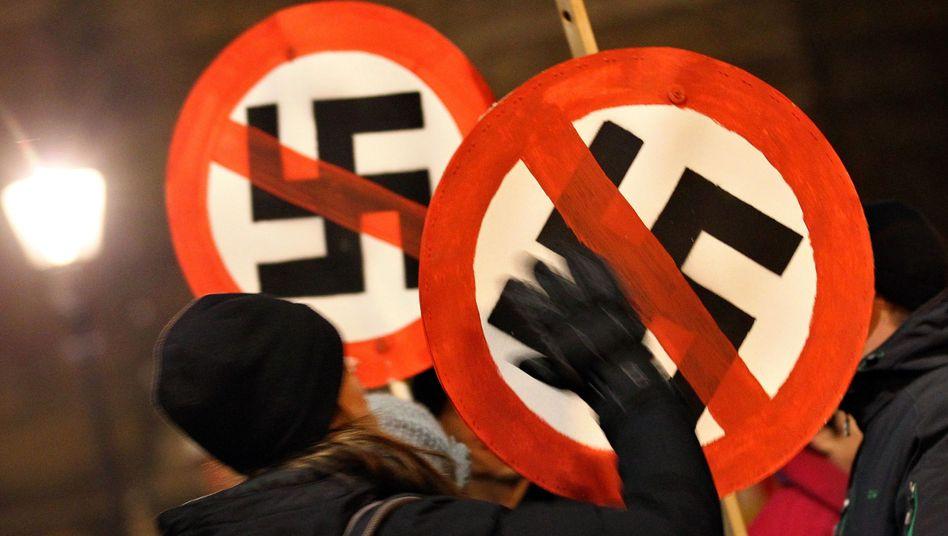 Demo gegen Nazis in Dresden: friedlicher Protest