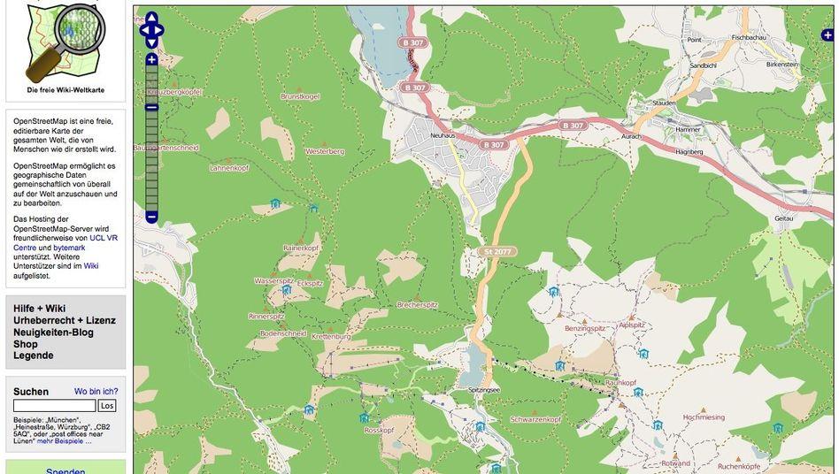 Openstreetmap: Die Stärke der Community-Karte liegt in Details wie Wanderwegen