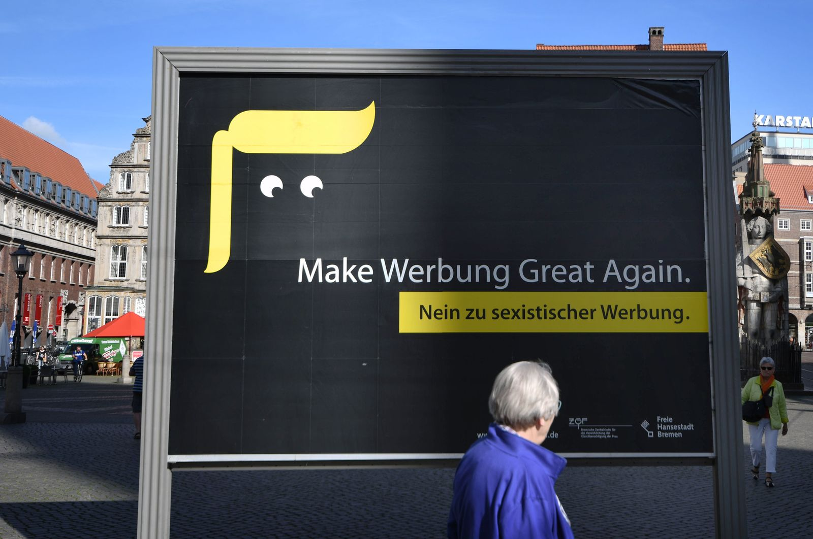 Plakat gegen sexistische Werbung