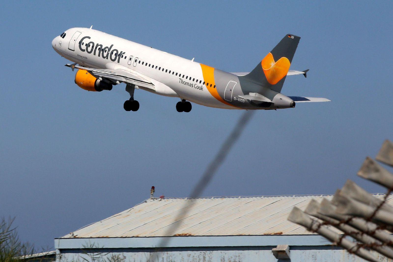 Condor Flugzeug Start