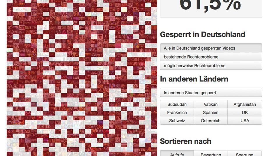 1000 Videos ausgewertet: Die App zeigt an, welche Clips in Deutschland gesperrt sind