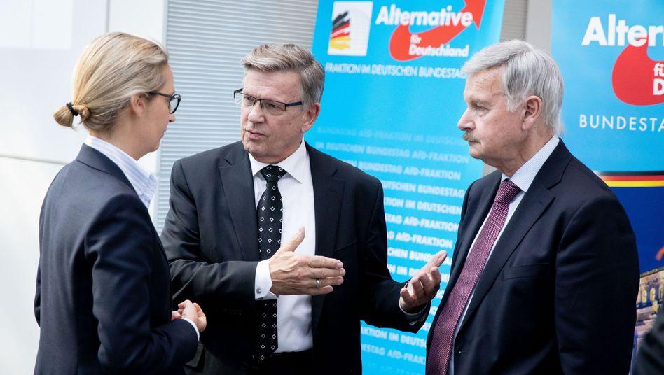 Gerold Otten (Mitte) mit Alice Weidel und Lothar Maier