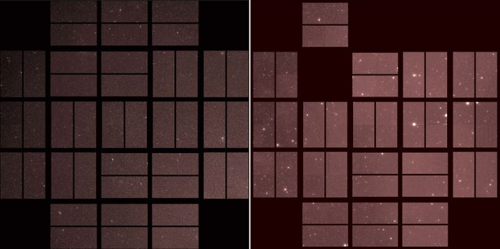Vergleich des ersten Bildes (l.) und des letzten Bildes (r.)