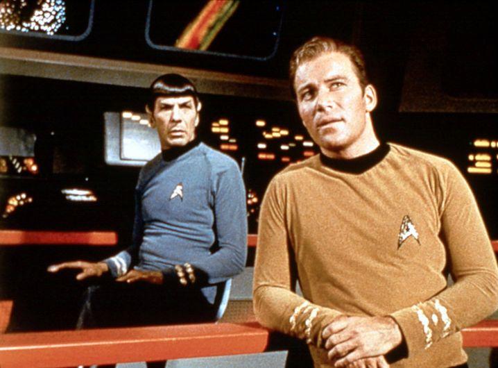 William Shatner (rechts) als »Captain Kirk« und Leonard Nimoy als »Mr Spock«