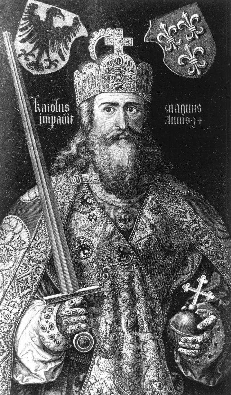 Karl der Große, Kupferstich nach einem Gemälde von Albrecht Dürers