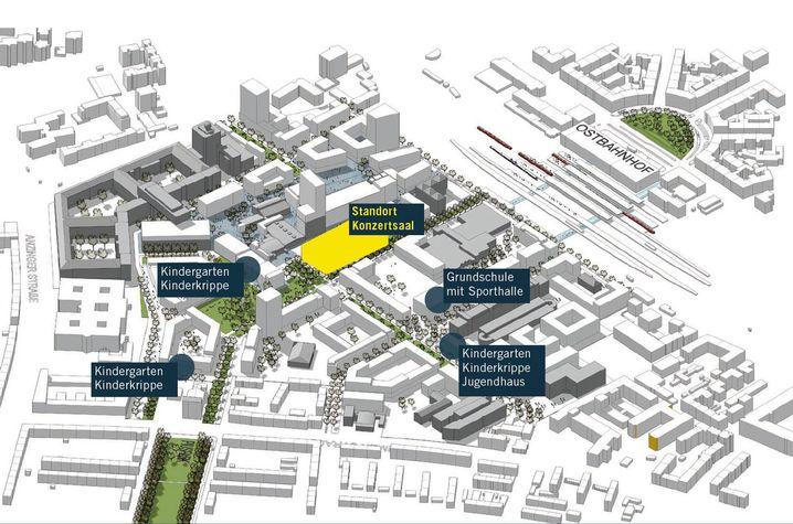 So soll das Konzerthaus in das Werksviertel eingebunden werden