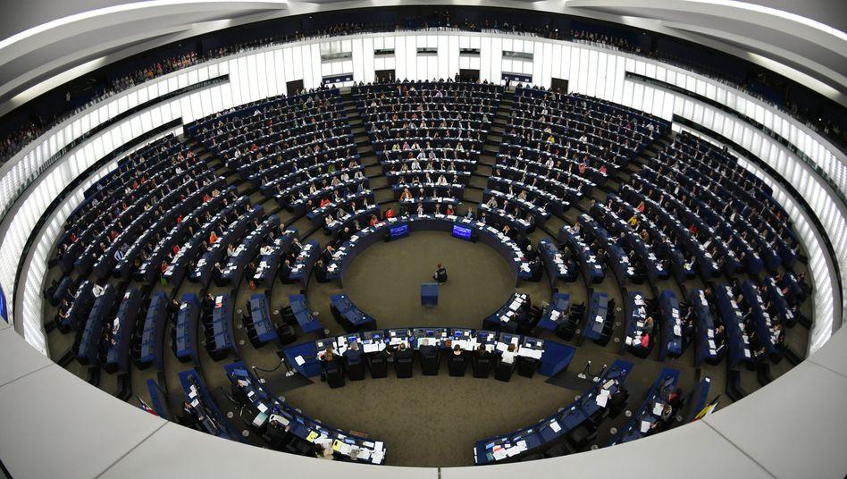 Blick ins Straßburger Europaparlament