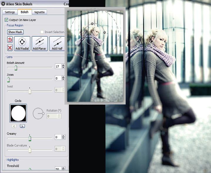 Lensbaby-Unschärfe: Der Effekt ist per Software erzeugt