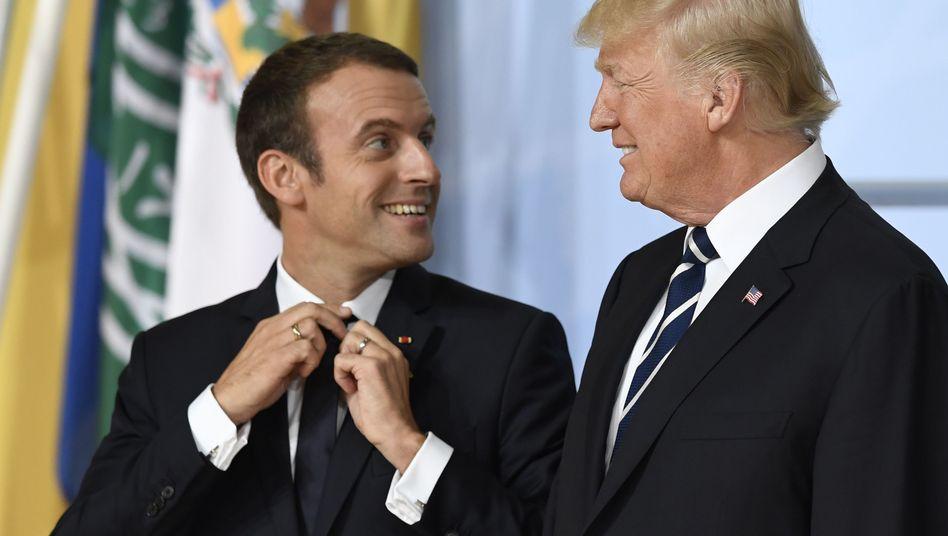 Macron und Trump beim G20-Gipfel in Hamburg
