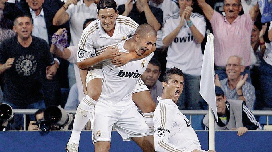 Madrid-Stars Özil, Benzema, Ronaldo