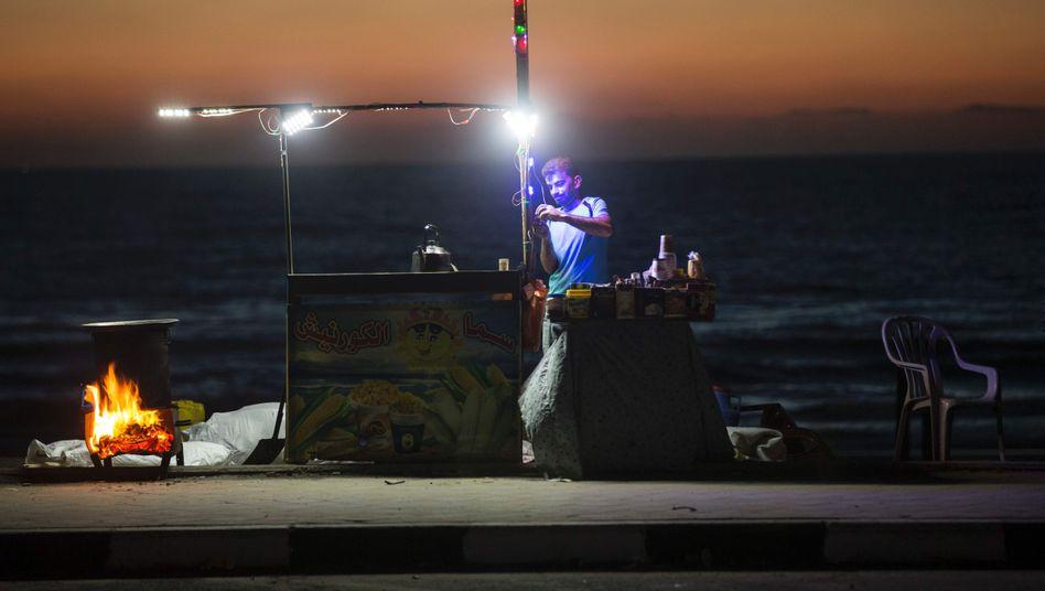 Ein Straßenhändler im Gazastreifen