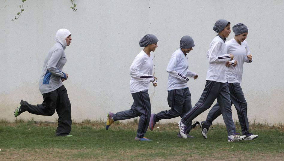 Mitglieder eines saudischen Frauenfußball-Teams: Nur auf Privatschulen erlaubt