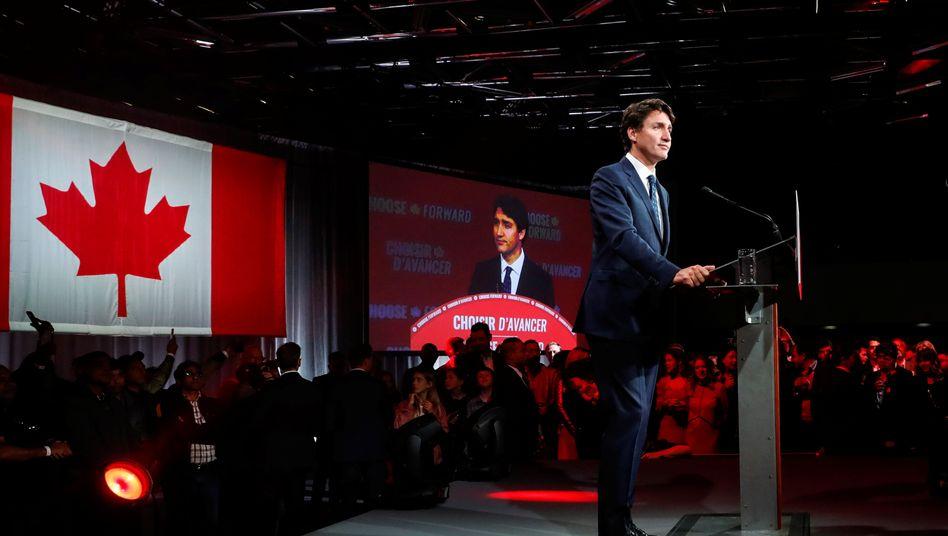 Justin Trudeau: Wahl gewonnen - aber viele Sitze im Parlament eingebüßt