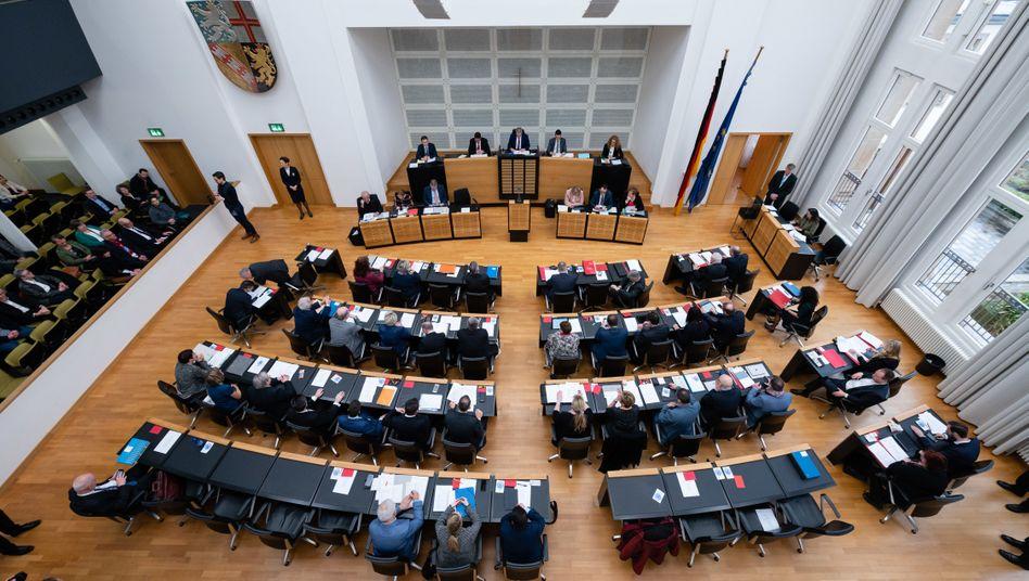 Plenarsaal des Saarländischen Landtags (Archivfoto)