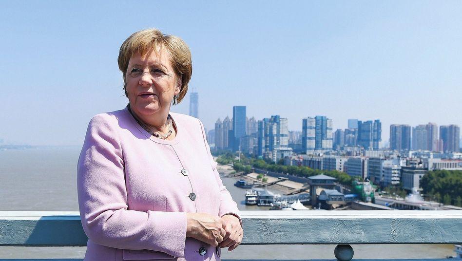 Chancellor Angela Merkel in Wuhan in September 2019