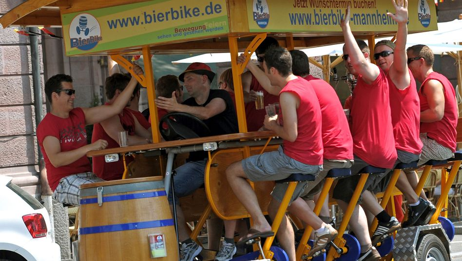 A Bierbike in Mannheim.
