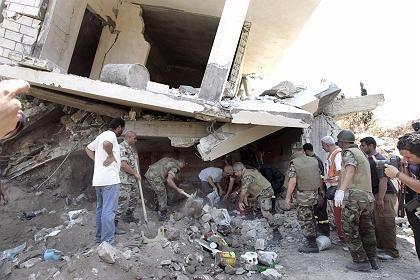Zerstörtes Gebäude in Kana (Archivbild): Weniger Tote als vermutet